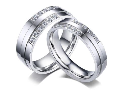 stainless steel cz wedding rings wholesale