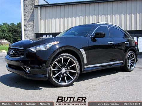 infiniti ex35 tire size infiniti fx35 with 22in vossen cv1 wheels exclusively from
