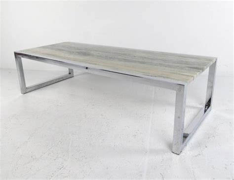 Mid Century Modern Marble Coffee Table Mid Century Modern Marble And Chrome Coffee Table In The Style Of Milo Baughman For Sale At 1stdibs