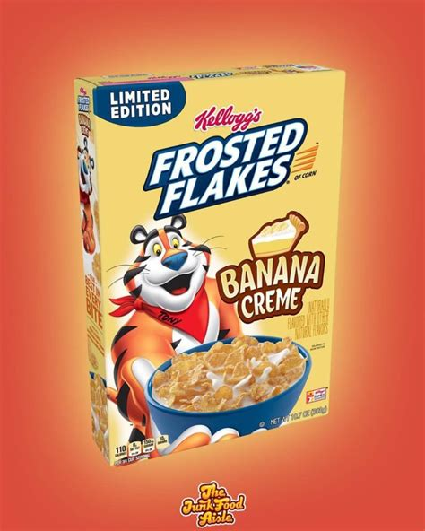 coming  banana creme frosted flakes  junk food