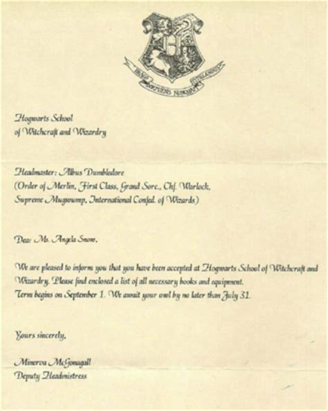 Hogwarts Acceptance Letter Real Create A Personalized Hogwarts Acceptance Letter For You Fiverr