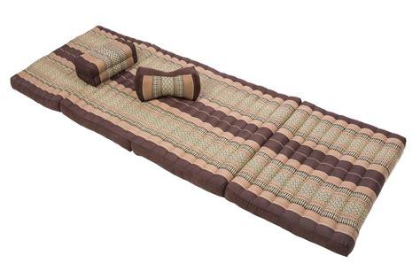 Thai Mat by Thai Mat Pillows Set Kapok Daybed Matress Shiatsu Earthtones Brown Ebay