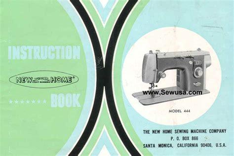 new home model 444 sewing machine manual