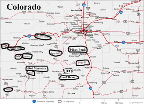colorado map with cities colorado map cities