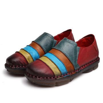 rainbow loafers rainbow stripe soft leather slip on toe casual