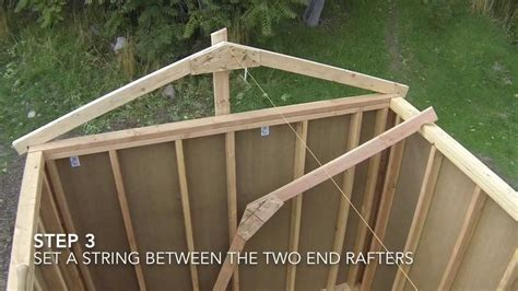 a frame roof build shed ideas build a shed rafters