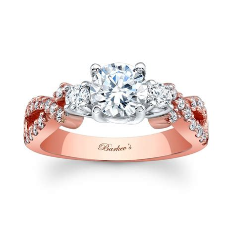barkev s rose gold engagement ring 7682lp