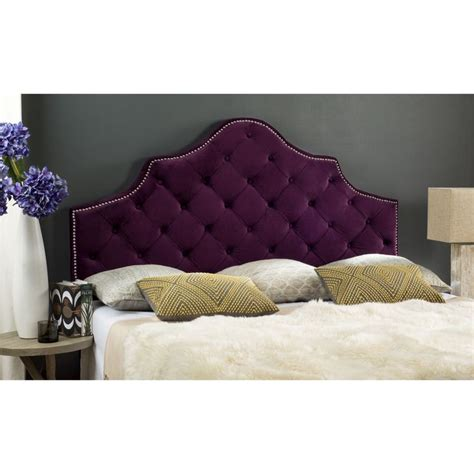 Purple Fabric Headboard by 17 Best Ideas About Purple Headboard On Tufted