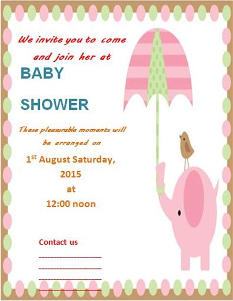 baby shower flyer templates free baby shower flyer template word stackerx info