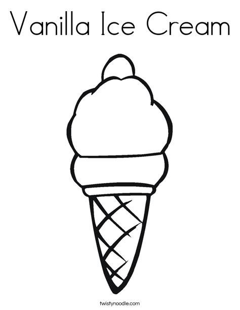 Vanilla Ice Cream Coloring Pages | vanilla ice cream coloring page preschool ice cream