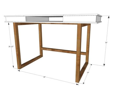 Ana White Build A Modern 2x2 Desk Base For Build Your Diy Study Desk