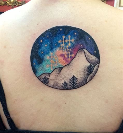 watercolor mountain tattoo watercolor constellation mountains