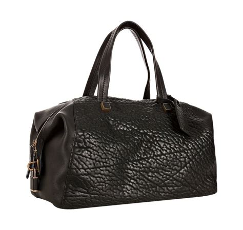 Mango Pebbled Square Tote Bag lyst c 233 line black pebbled leather boston bag in black