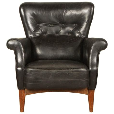 Black Leather Armchair by Black Leather Armchair By Finn Juhl At 1stdibs