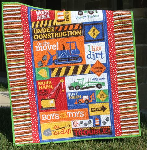 Construction Quilt construction quilt baby boy bedding nursery crib blanket