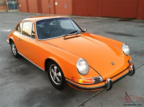 orange porsche 1970 porsche 911e coupe signal orange