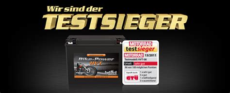 Motorrad Batterie Test 2015 by Keckeisen Akkumulatoren Intact Bike Power Hvt Intact