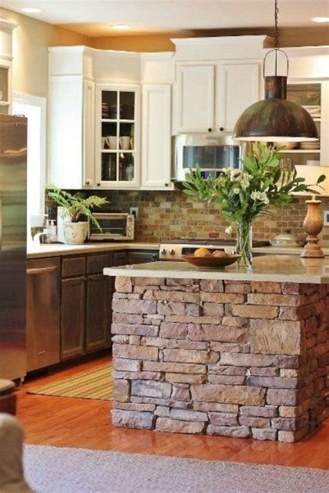 island for kitchen rustic kitchen island ideas stone 40 rustic home decor ideas you can build yourself page 2