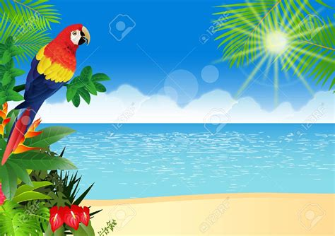 Tropical clipart tropical background - Pencil and in color ... Free Clip Art Christmas Theme