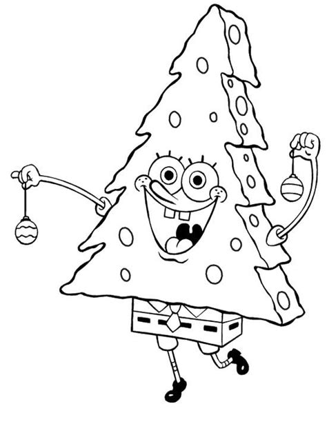 best photos of spongebob christmas coloring pages