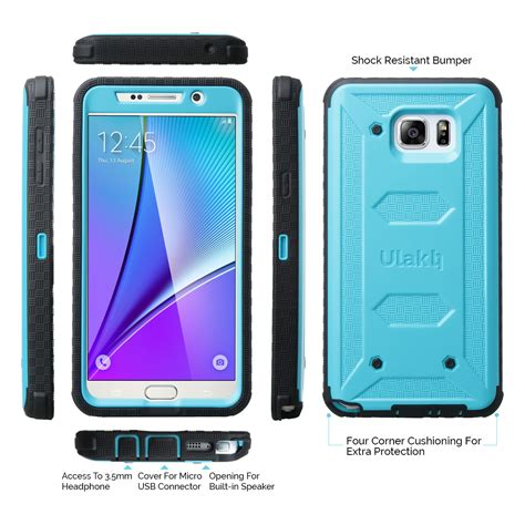 Samsung Galaxy Note 5 Rugged Armor Cover Armor With Stand 1 ulak armor hybrid rugged shockproof cover for samsung galaxy note 5 ebay