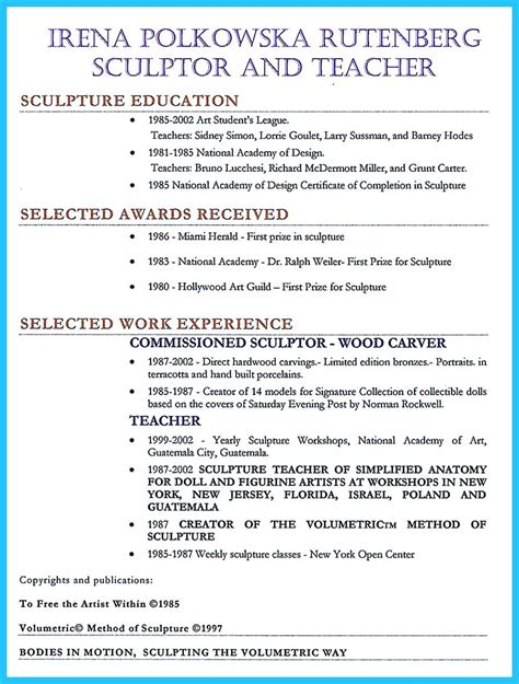 creative and extraordinary resume for any level education