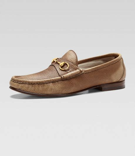 gucci bit loafers gucci roos bit loafer in brown for lyst