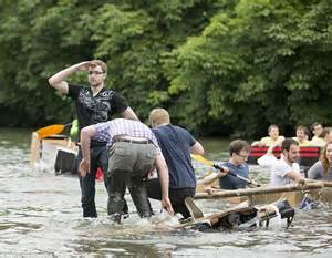 cardboard boat race rome ga cambridge students cause chaos in a drunken suicide sunday