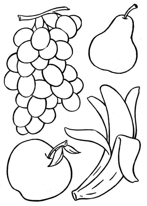coloring pages fruits preschool vegetable coloring pages for preschool