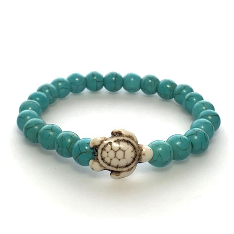 turtle bead bracelet bead sea turtle bracelet peace planet
