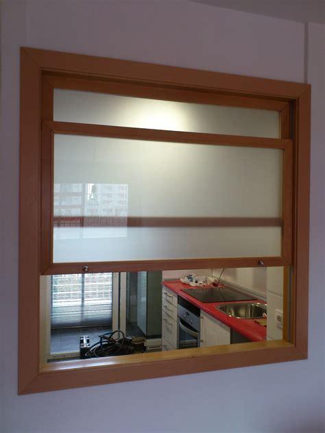 muebles  medida ventana de guillotina entre cocina  salon