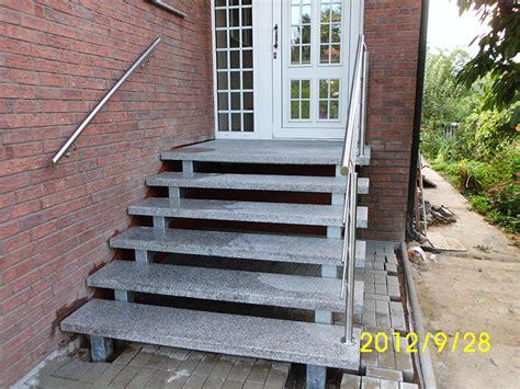 Treppe Ohne Geländer by Au 223 En Treppen Eingangstreppe Baustoffe St 252