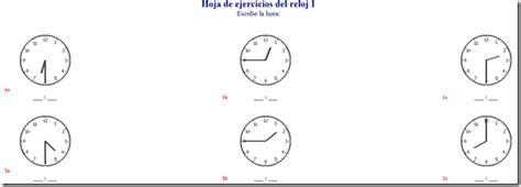 generador de ejercicios para aprender la hora y leer el reloj generador de hoja de ejercicios para aprender la hora