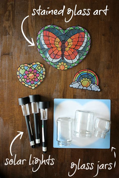 stained glass solar lights gifts can make stained glass solar lights