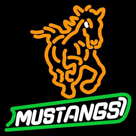 cal poly mustangs ncaa cal poly mustangs logo neon sign neon