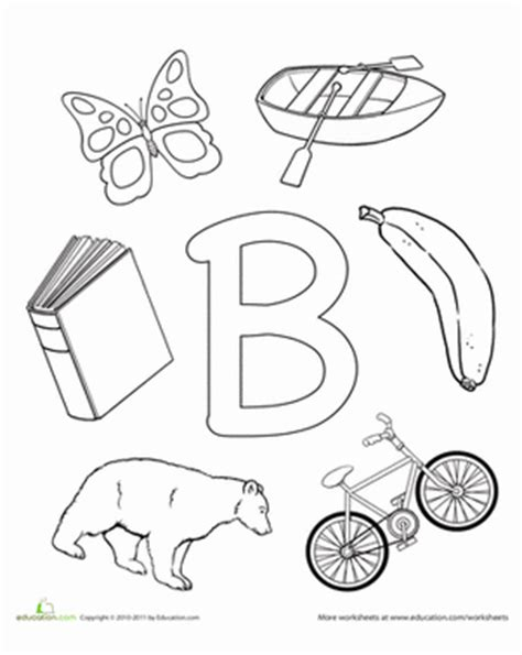 worksheets for preschool letter b b is for worksheet education com