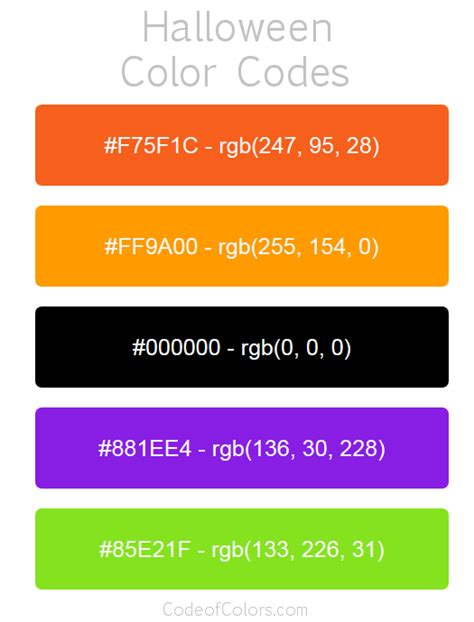 color codes for code colors rgb new the best code of 2018