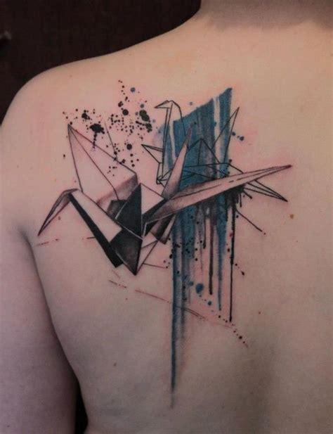 tattoo of paper crane 30 stunning crane tattoo designs amazing tattoo ideas