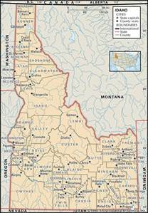 map of idaho state and county maps of idaho