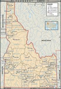 State Of Idaho Map by State And County Maps Of Idaho