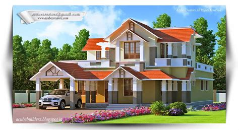 simple 2 story house design 4bhk 2 16 keralahouseplanner