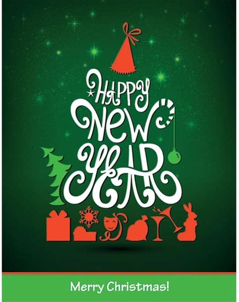 happy new year poster free vector beautiful happy new year typography