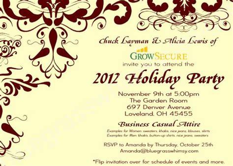 wording for employee holiday luncheon custom corporate invitation w crimson flourish