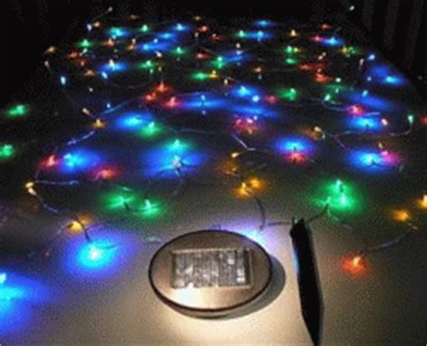 solar powered christmas lights power efficient lighting