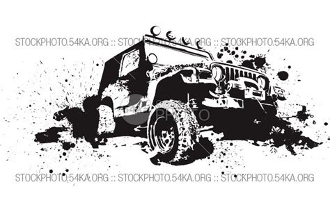 offroad jeep graphics vector graphics off road 4 215 4 vector art graphics 54ka