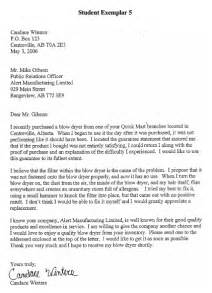 Business Letters English Examples alberta education links to samples of student writing