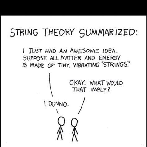 String Theory - nerdy quantum physics joke lol physics cosmology