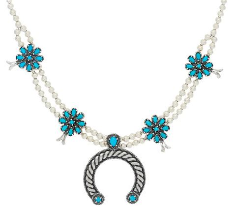 sleeping turquoise sterling necklace by american west qvc
