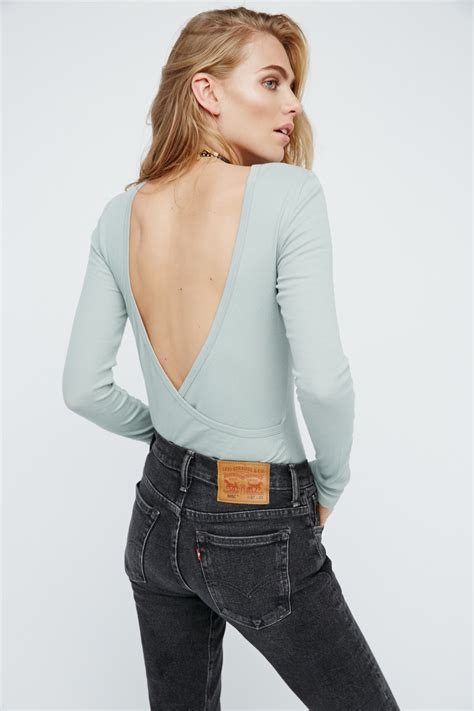 Sleeve Layer Top intimately surplice back sleeve layering top at free clothing boutique