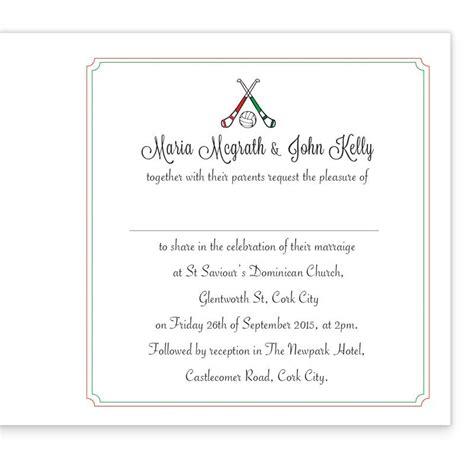 inside of wedding invitation gaa folding wedding invitation limerick vs cork loving